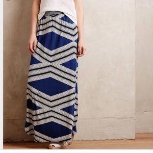 Anthropologie geometric maxi skirt